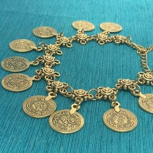 Jewelry - (T2) Gold Coin Anklet